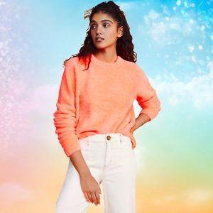 LOU & GREY Cozy Sweater shocking coral